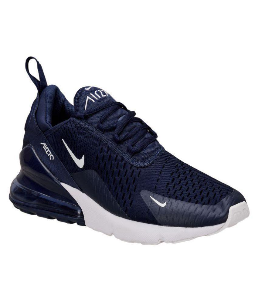 huge discount 4331e 84256 ... Nike Air Max 270 Blue Running Shoes ...