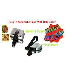 Grind Sapphire Roti Maker With 750 Watts Sandwich Toaster