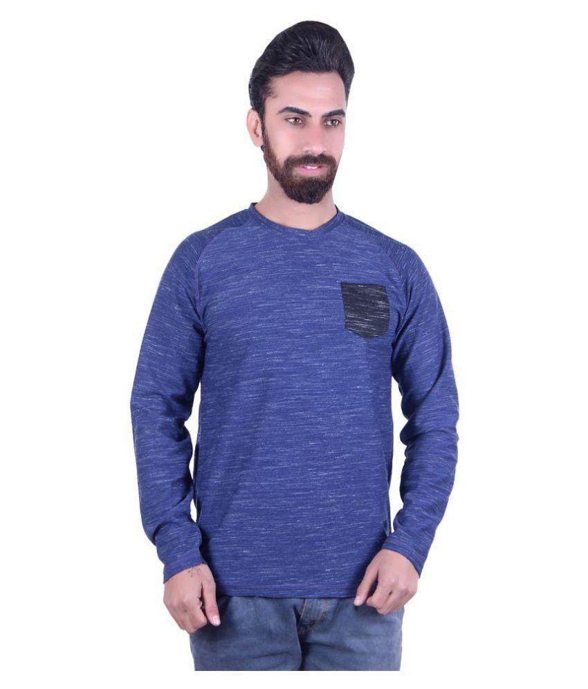 EMERA Navy Full Sleeve T-Shirt Pack of 1