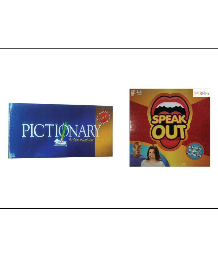 PICTIONARY & SPEAK OUT COMBO GAME SET - Buy PICTIONARY ...