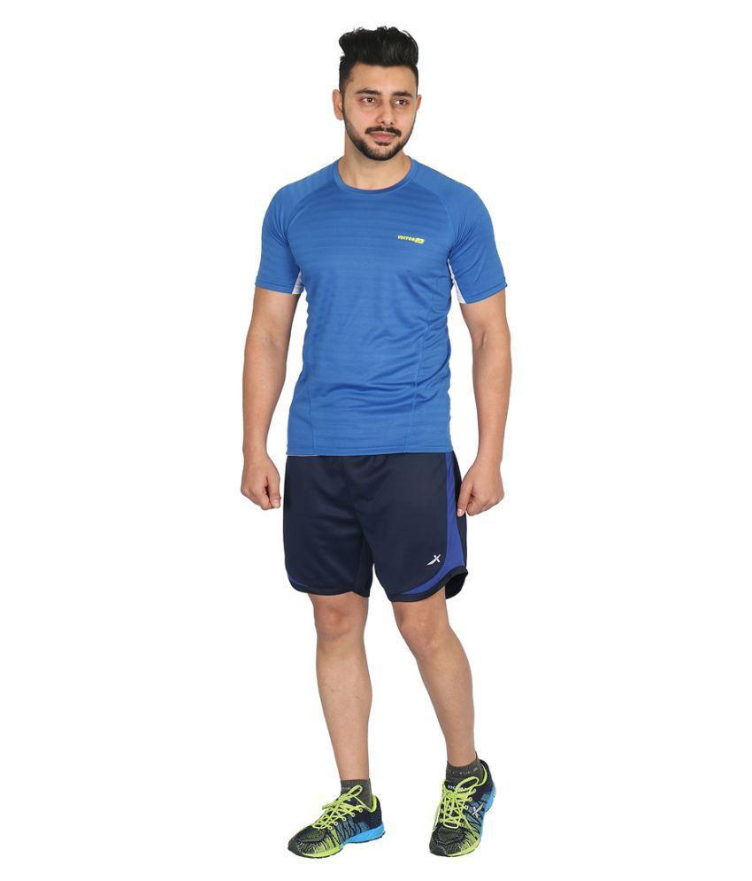 Vector X RUNNER-N Men's Athletic Shorts (Navy)