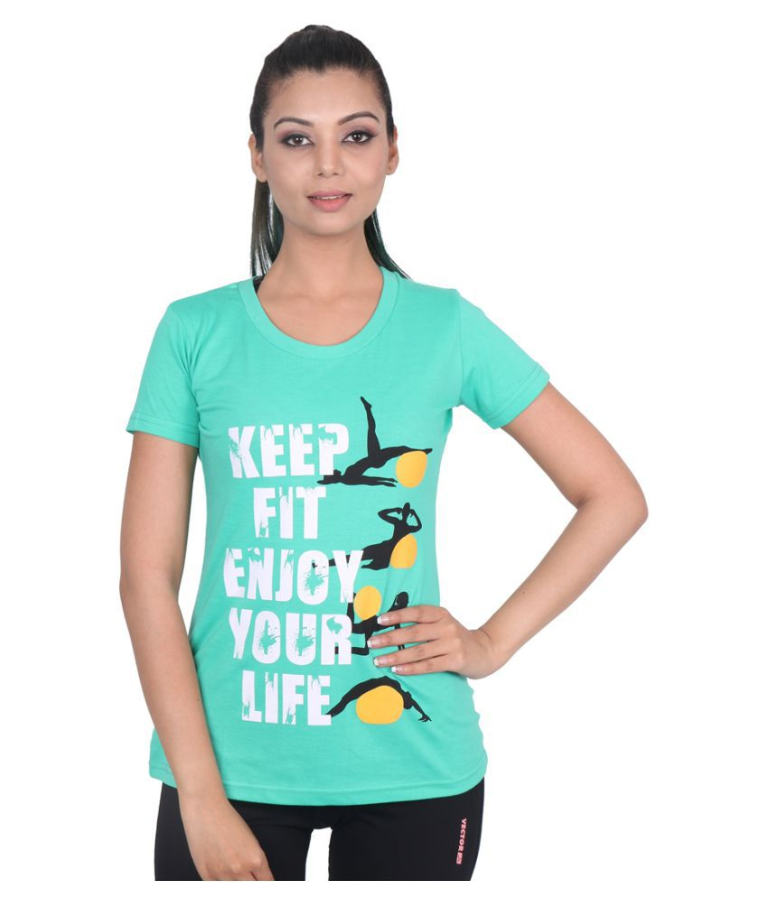 Vector X VTCF-001-C Women's Round Neck T-Shirt (Green)