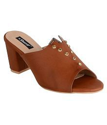 e6dede74b12 Tan Heels  Buy Tan Heels for Women Online at Low Prices - Snapdeal India