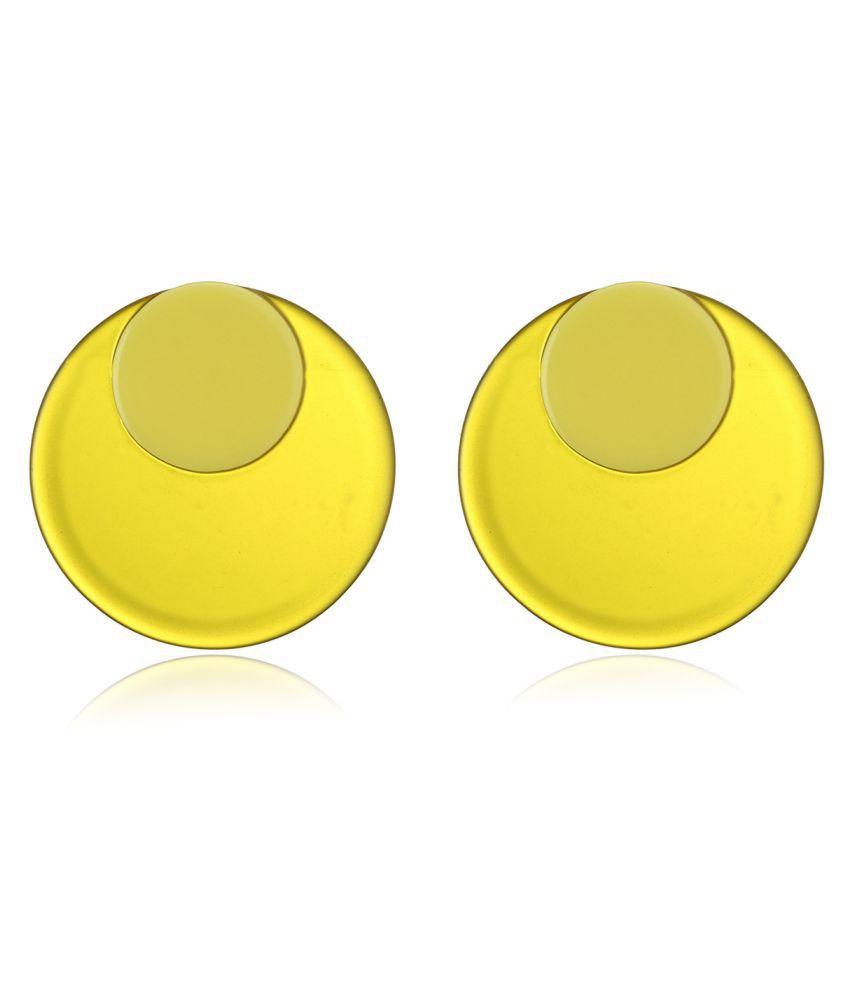 Levaso Fashion Earrings Ear Studs Alloy Jewelry Yellow