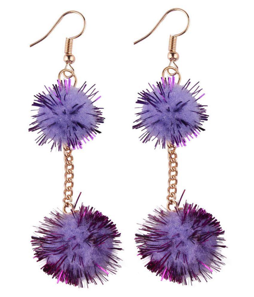 Levaso Fashion Earrings Ear Studs Jewelry Purple