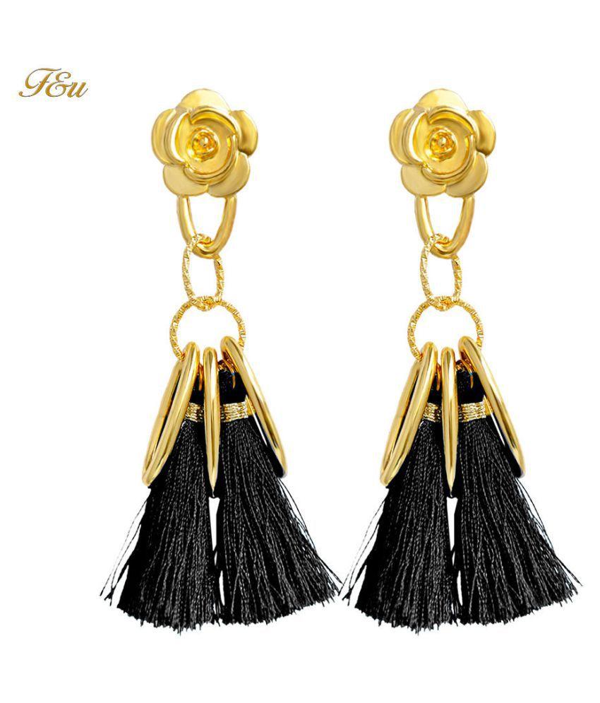 Levaso Fashion Earrings Ear Studs Alloy Tassels Jewelry Blue