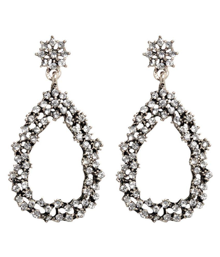 Levaso Fashion Earrings Ear Studs Alloy Diamond Jewelry Golden