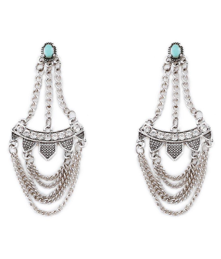 Levaso Fashion Earrings Ear Studs Alloy Bohemia National Tassels Jewelry Golden