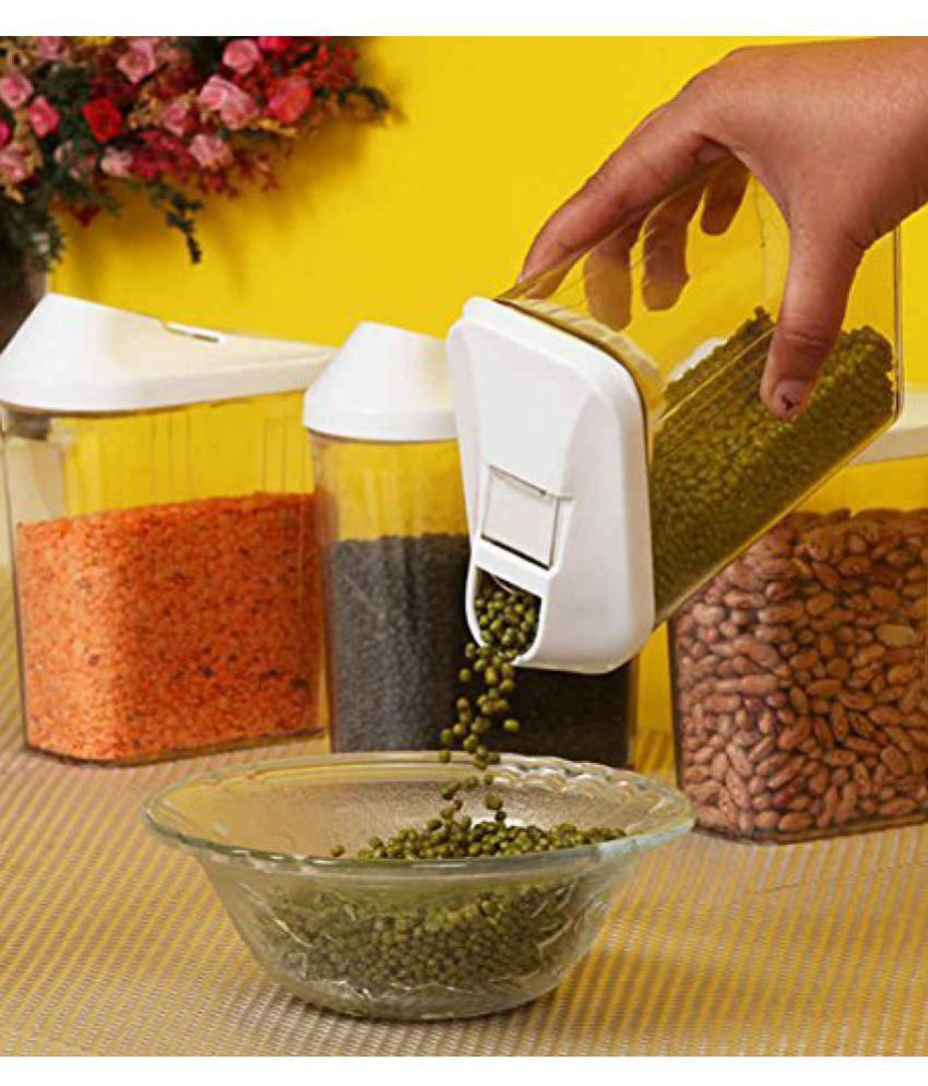 Analog kitchenware Polycarbonate Dal Container Set of 3