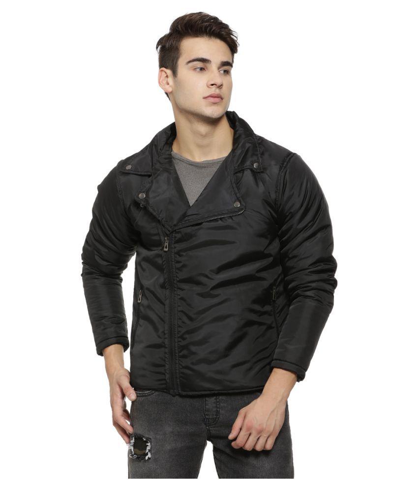 Campus Sutra Black Casual Jacket