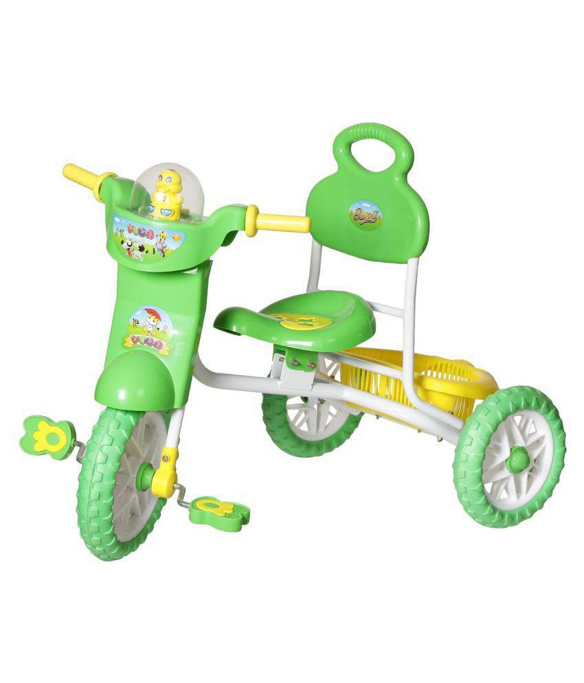 Dash Vega Kids Musical tricycle with Storage Basket and Lights  Green