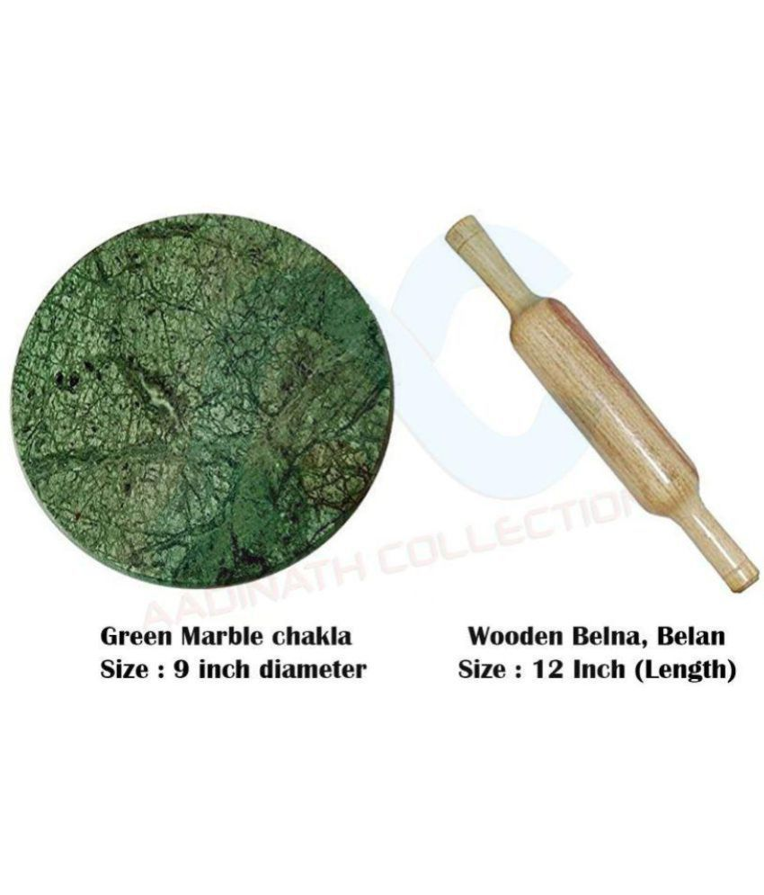 Aadinath Collection Marble Rolling Pin Combo 1 Pc