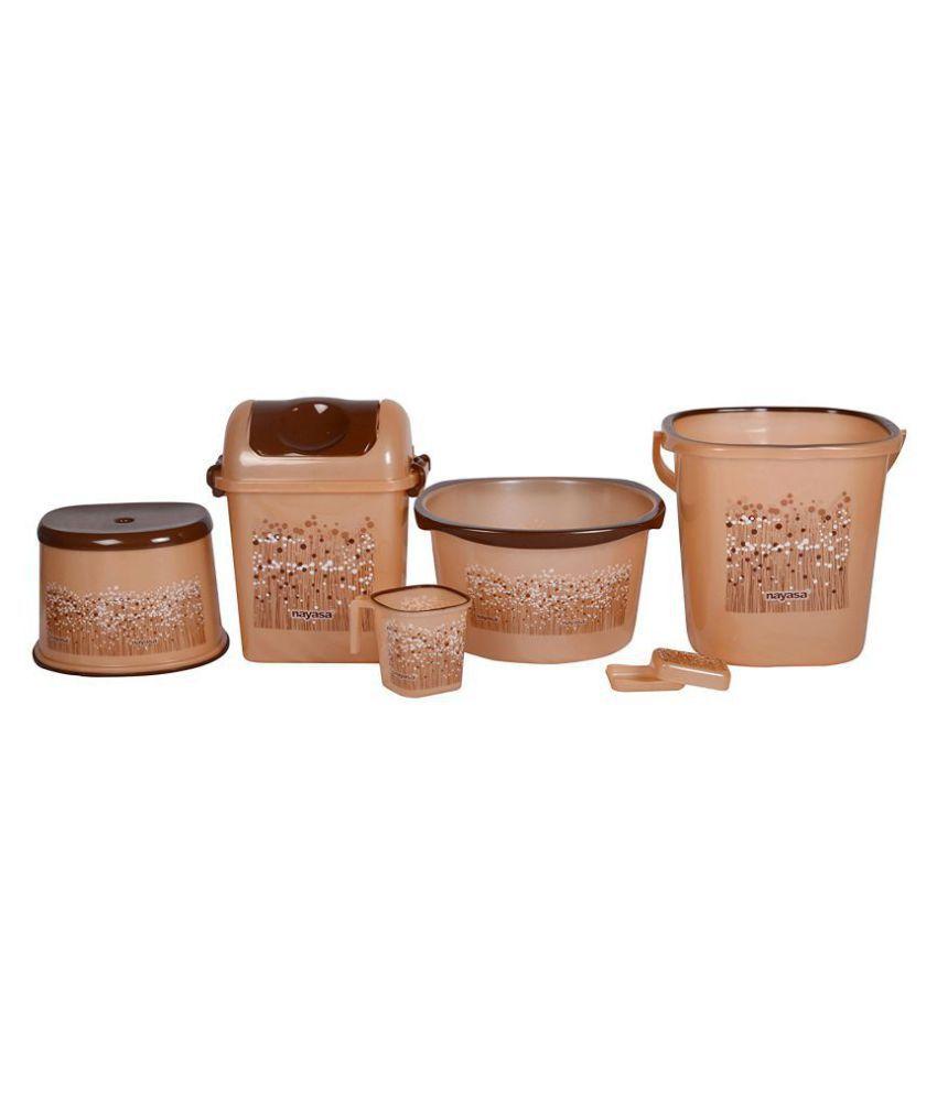 Nayasa Plastic Bathroom Bucket Set