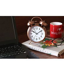 Rise N Shine Analog Vintage Look Table Alarm With NIght Led Alarm Clock - Pack of 1