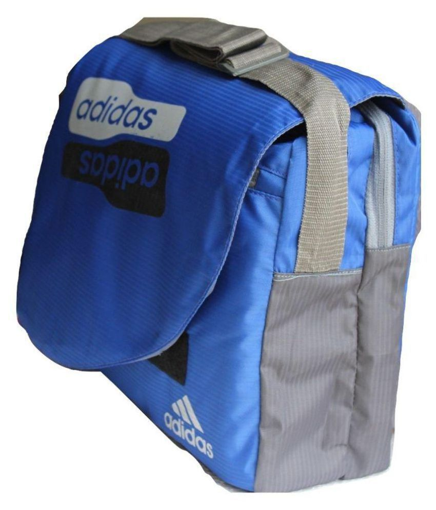 df92d5dc08b ... Adidas Stylish Blue Bag for School/College/Office use Blue Casual  Messenger Bag ...
