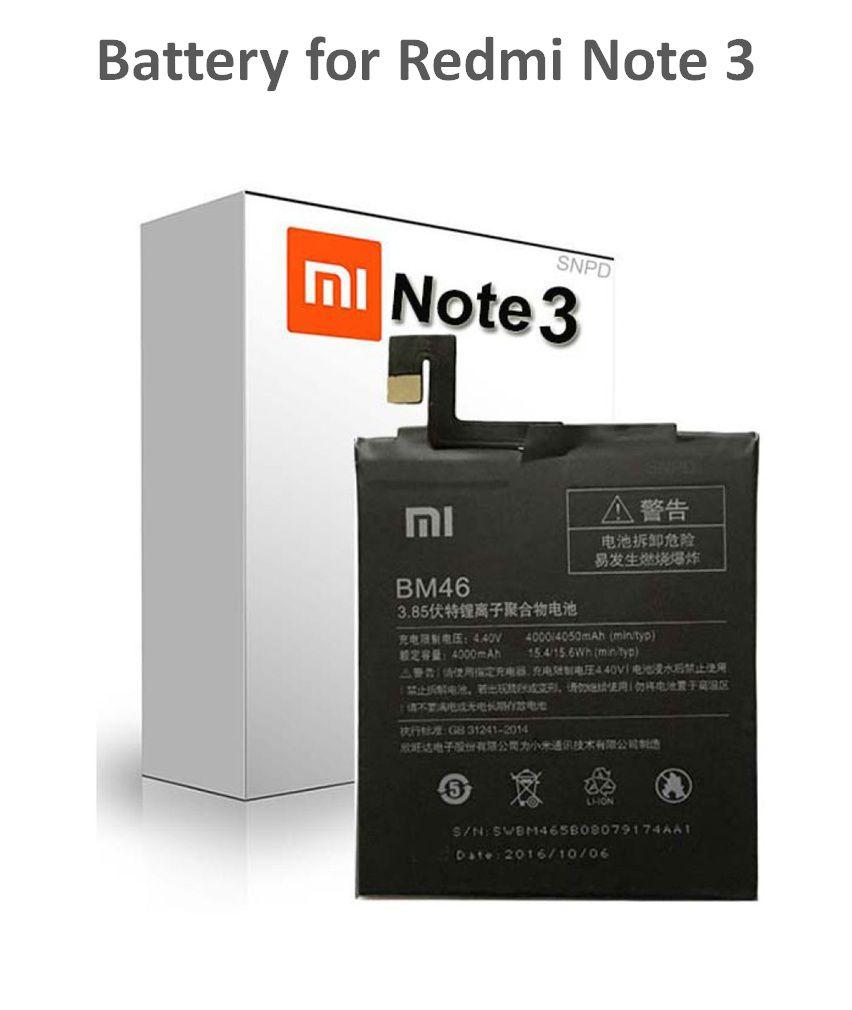 Xiaomi Redmi Note 3 4050 mAh Battery by SNPD