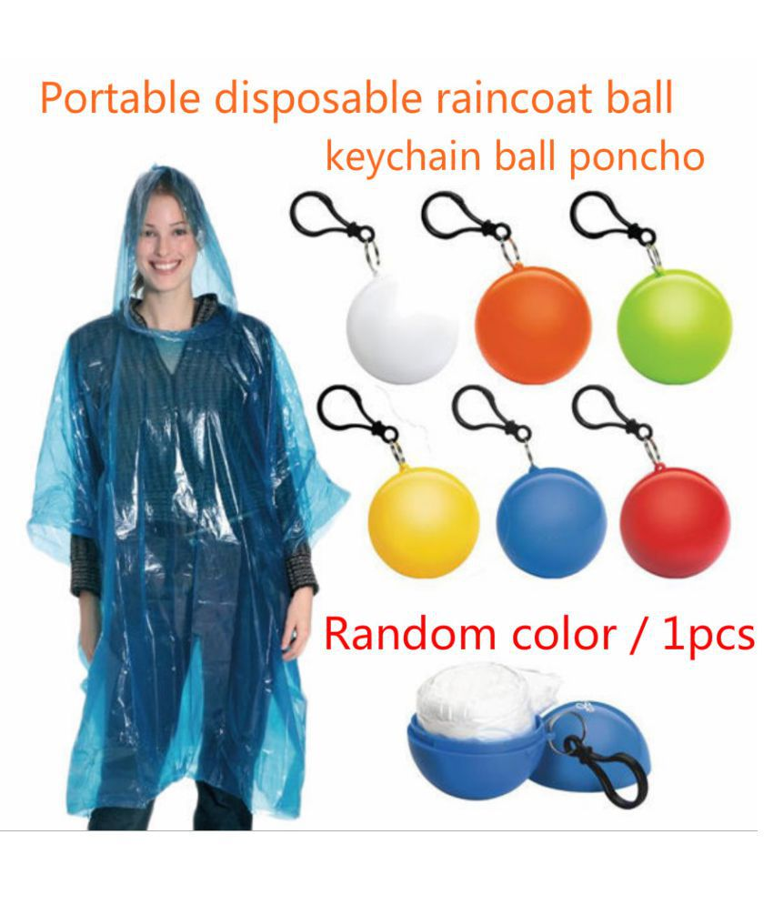 Changing Destiny Polyester Long Raincoat - Multi Color
