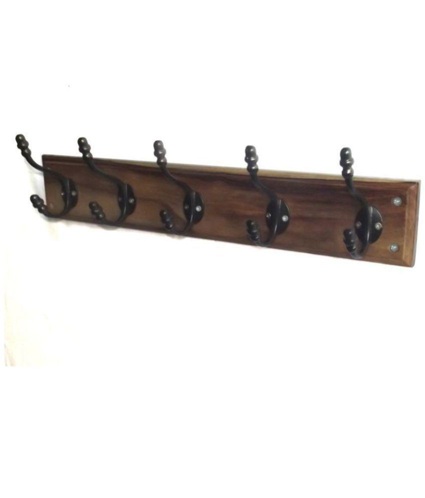 Colorwood Wall Hanger Hook Clothes Coat Textured Wooden Rail Rack 22 Inch