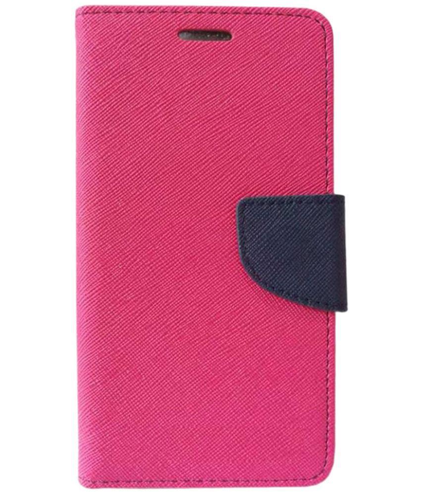 Moto E Flip Cover by Doyen Creations - Pink Premium Mercury