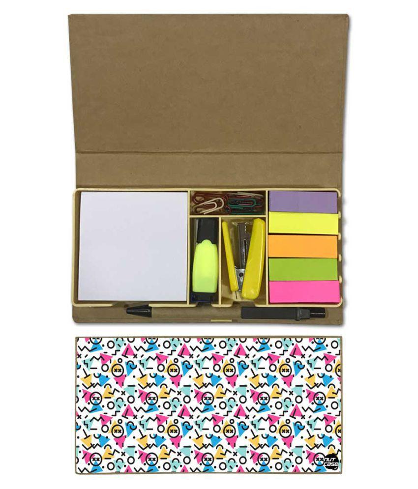 Nutcase Designer Stationary Kit Desk Customised Organizer Memo Notepad - Letters