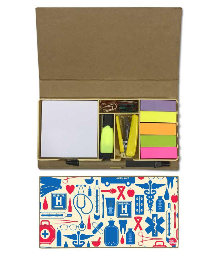 Nutcase Designer Stationary Kit Desk Customised Organizer Memo Notepad - Doctor Medial Student Kit
