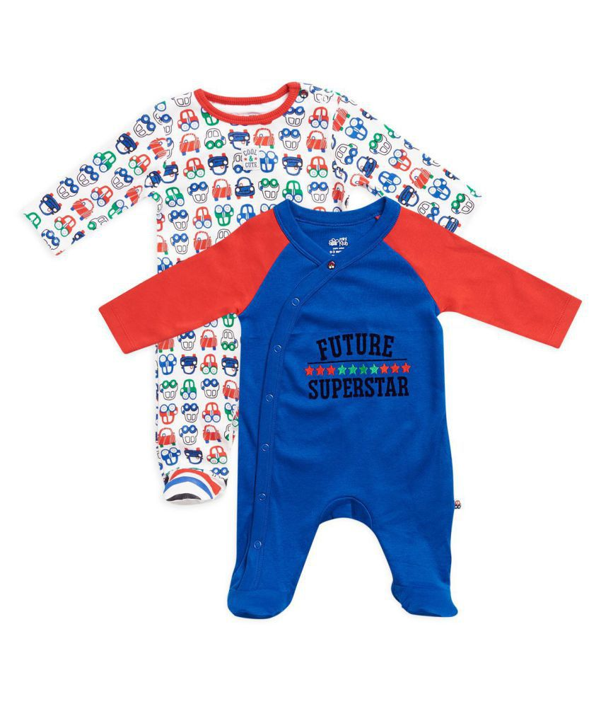 edcb86f9d296 FS MiniKlub Baby Boy Sleep Suit Pack of 2 - Buy FS MiniKlub Baby Boy ...