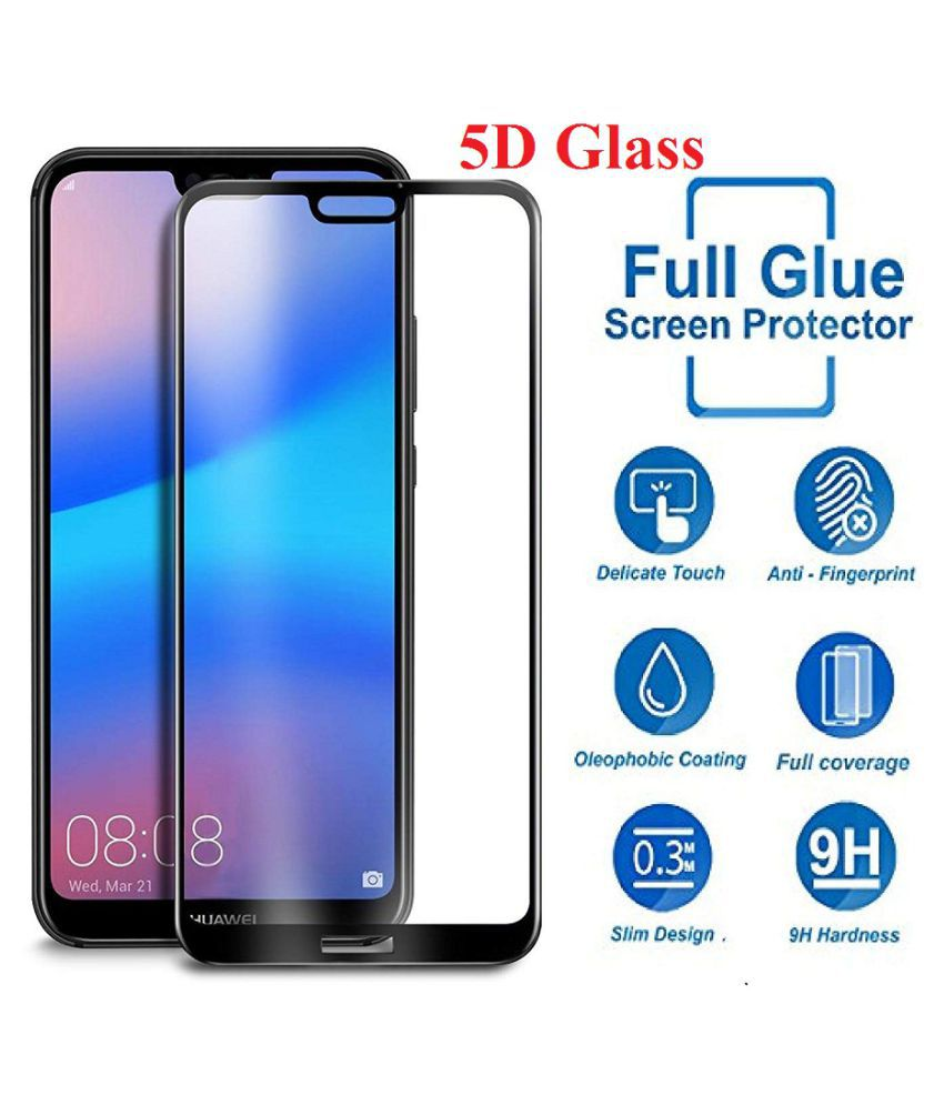 Vivo V7 Tempered Glass Screen Guard By VinyakMobile 5D Tempered Glass