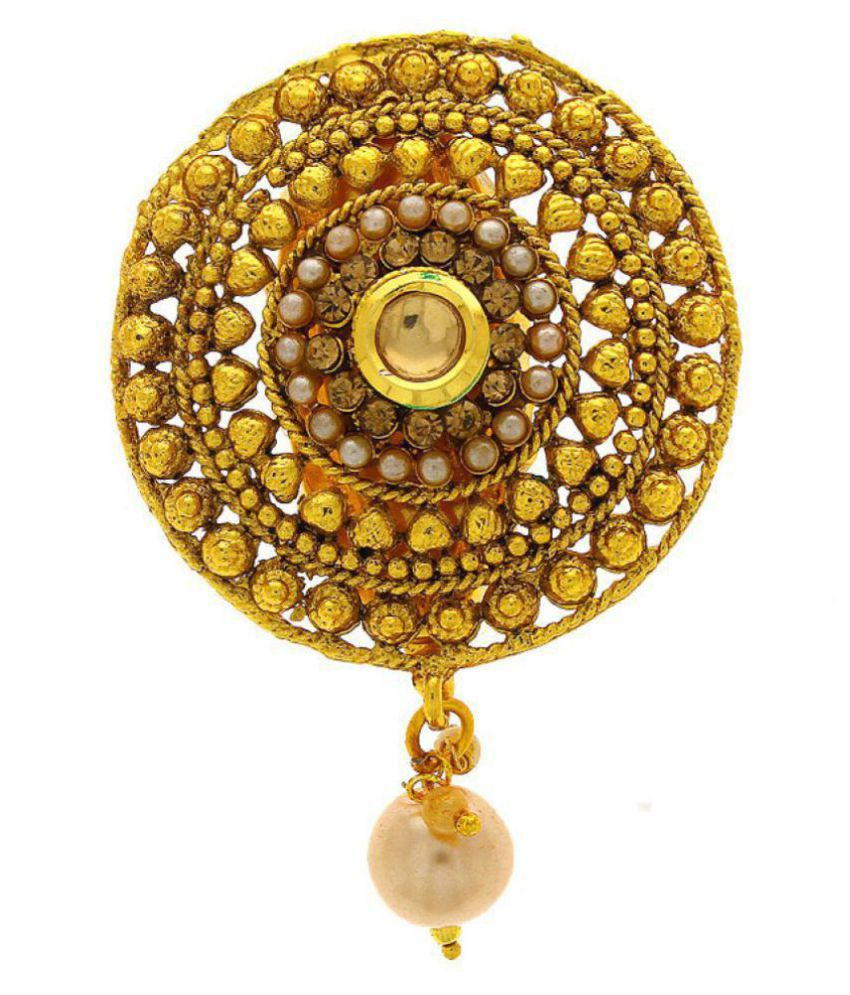 59e3cf9ba Anuradha Art Round Shape Studded With Pearl Beads Classy Designer  Traditional Saree Pin/Brooch For Women/Girls: Buy Anuradha Art Round Shape  Studded With ...
