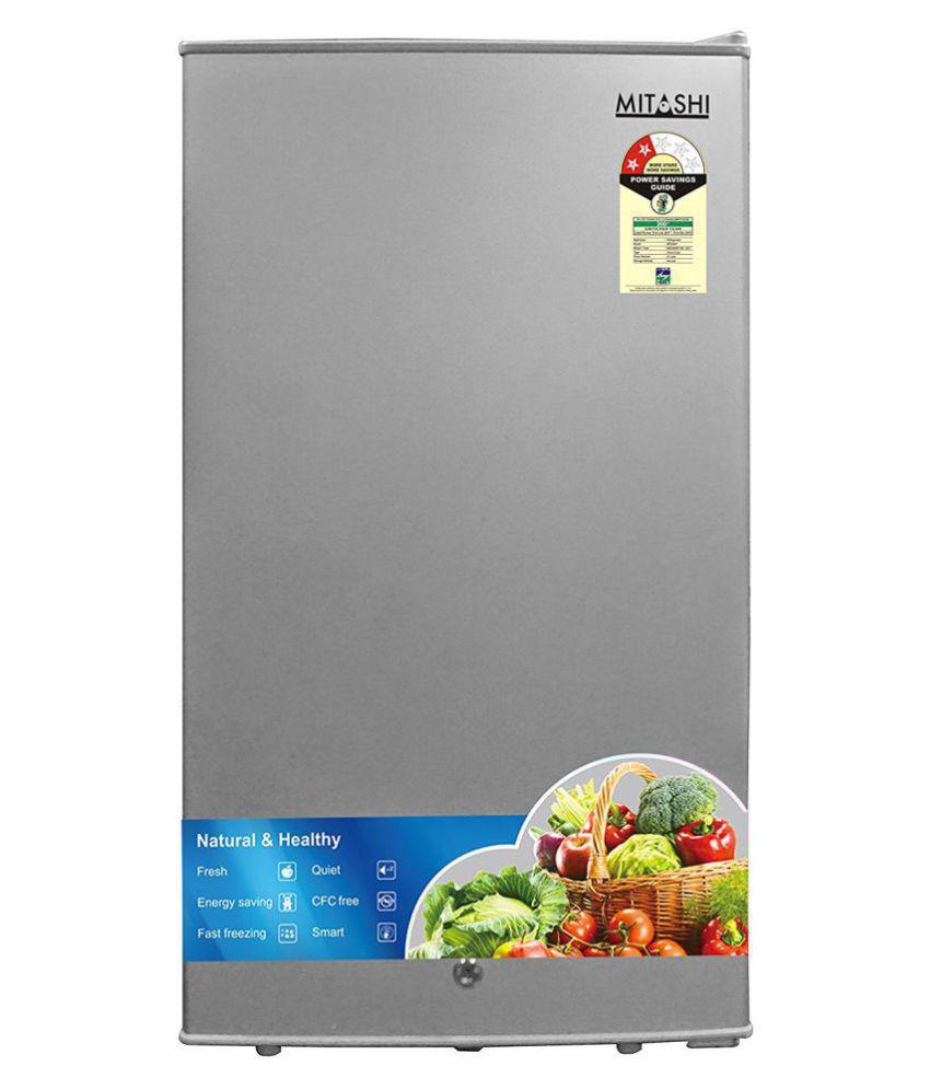 Mitashi 87 Ltr 2 Star MSD090RF100 Single Door Refrigerator - Silver