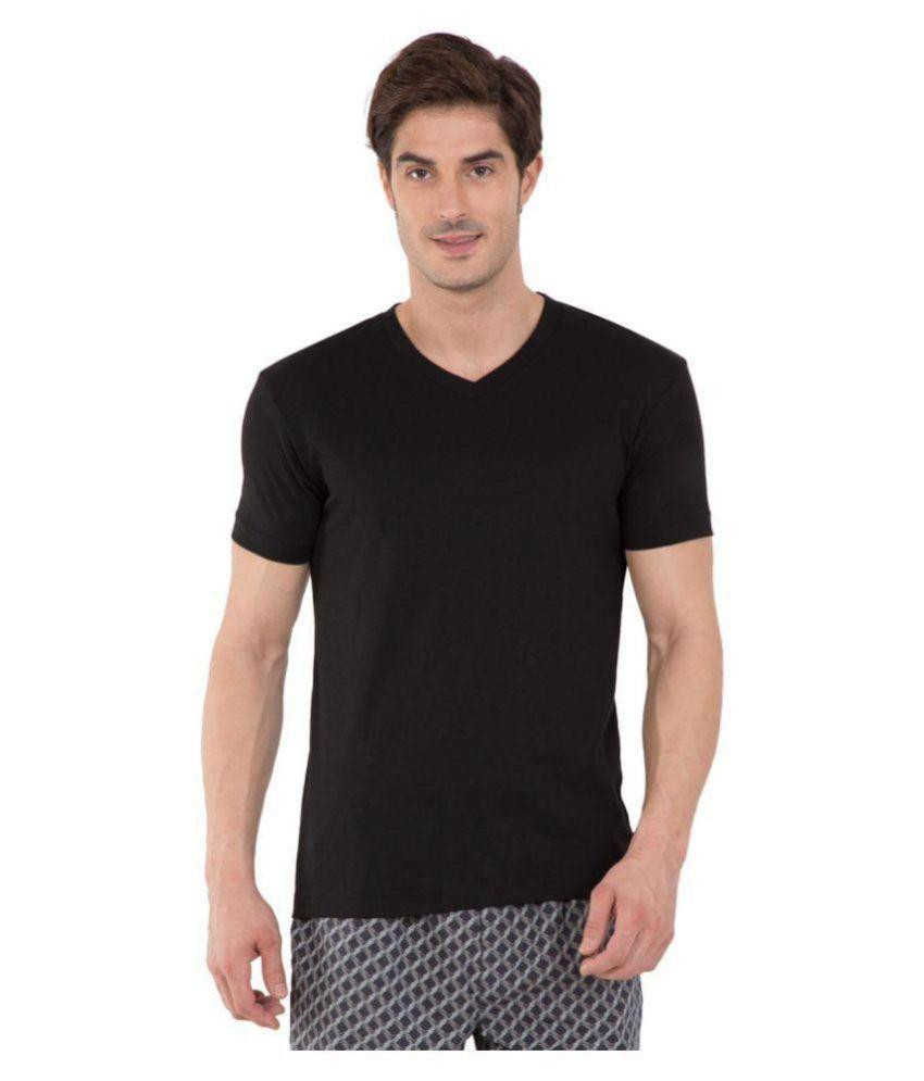 Jockey Black Half Sleeve T-Shirt