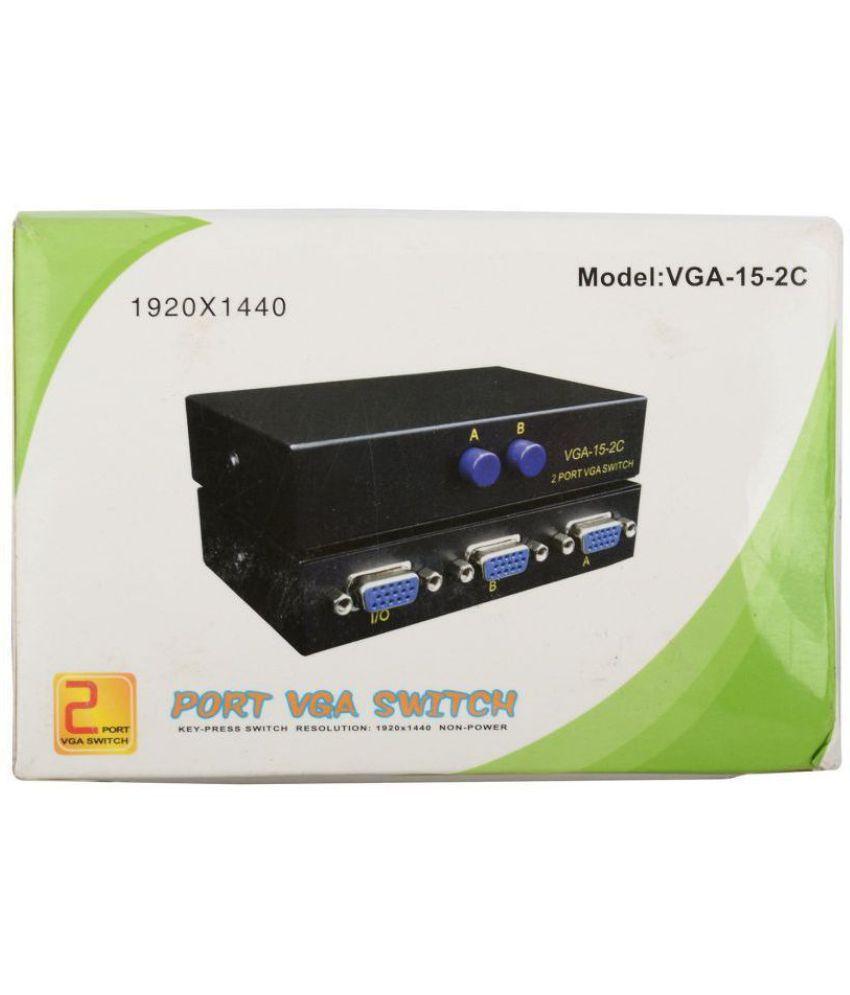 LipiWorld 2 Port Manual VGA Switch Splitter