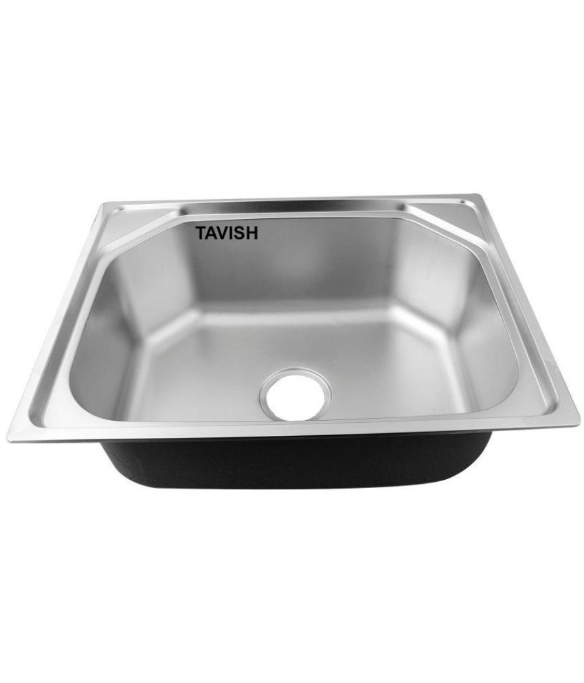 Buy Tavish Stainless Steel Single Bowl Sink Without Drainboard