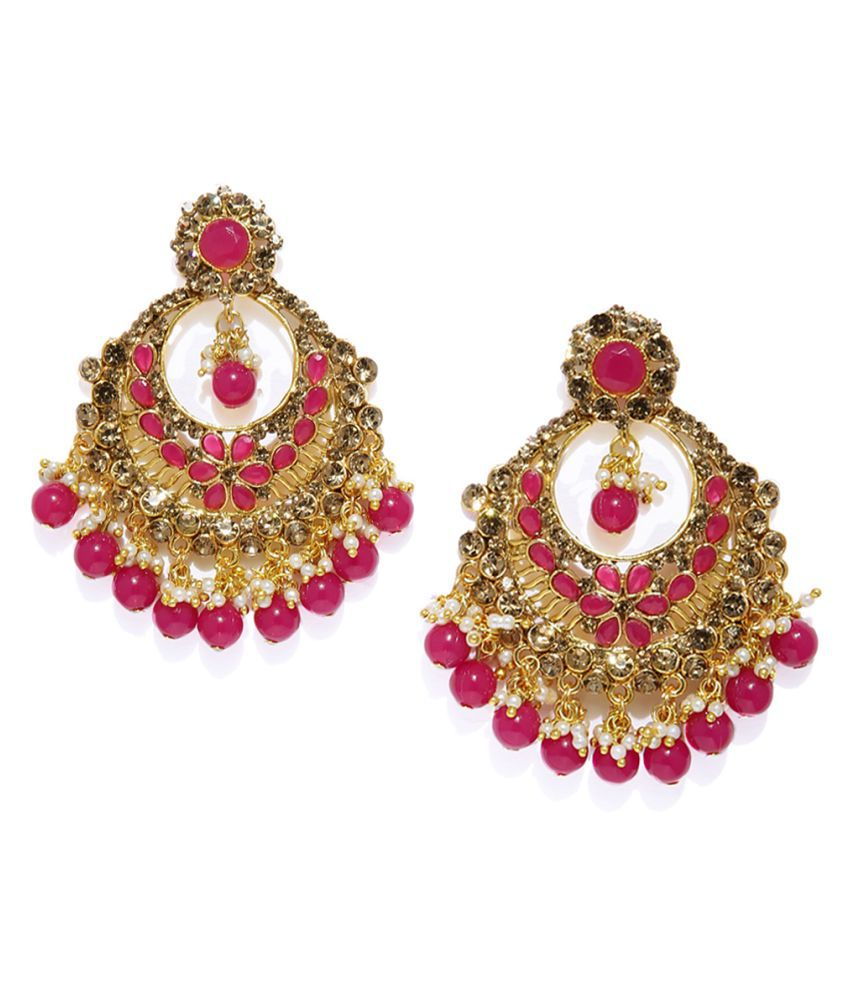 Zaveri Pearls Gold Tone Traditional Dangle & Drop Earring-ZPFK7468