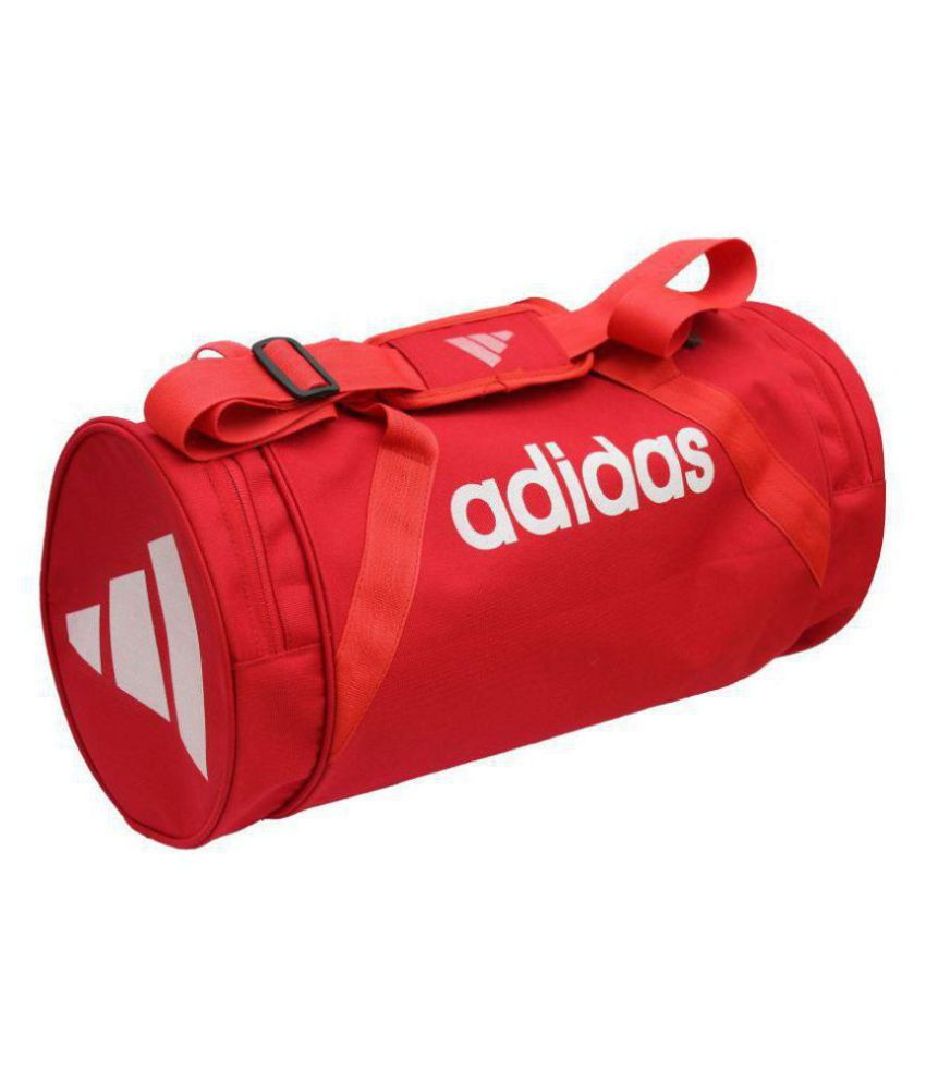 7674cef70829 Adidas Medium Red Nylon Gym Bag Travel Duffle - Buy Adidas Medium Red Nylon Gym  Bag Travel Duffle Online at Low Price - Snapdeal