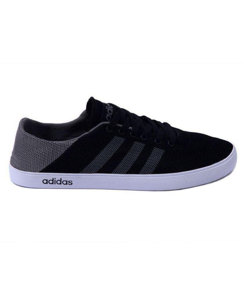 adidas black casual shoes