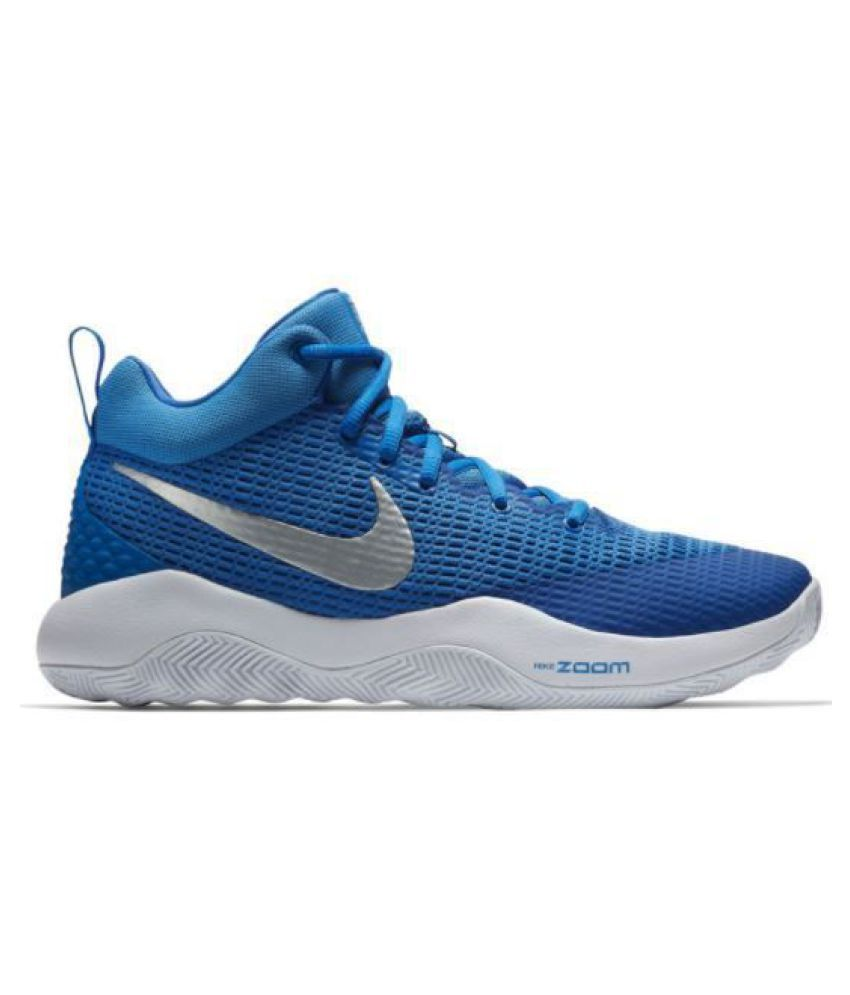 hot sales 73ebf dffc3 Nike Zoom Rev EP 2018 Blue Basketball Shoes - Buy Nike Zoom Rev EP 2018  Blue Basketball Shoes Online at Best Prices in India on Snapdeal