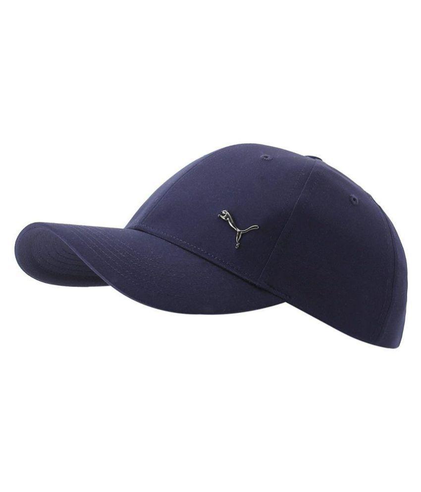21f5b89590a3a Puma Blue Plain Polyester Caps - Buy Online   Rs.
