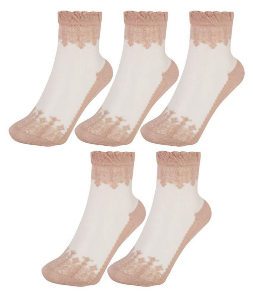 Women Embroidered Socks (Pack of 5)