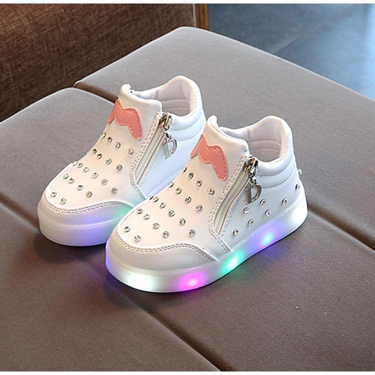 LED light shoes white 24EU size