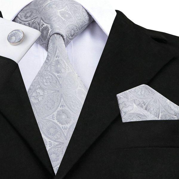 Kamalife Gray Printed Silk Necktie