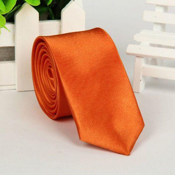 Kamalife Orange Plain Silk Necktie
