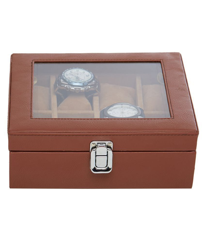 393e15589 Leather World Brown PU Leather Designer Watch Box Case for 8 Watches  transparent Lid - Buy Leather World Brown PU Leather Designer Watch Box Case  for 8 ...