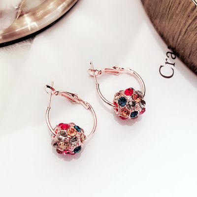Levaso Fashion Jewelry Womens Earrings Ear Studs Alloy 1Pair Personality Gifts Rose Gold
