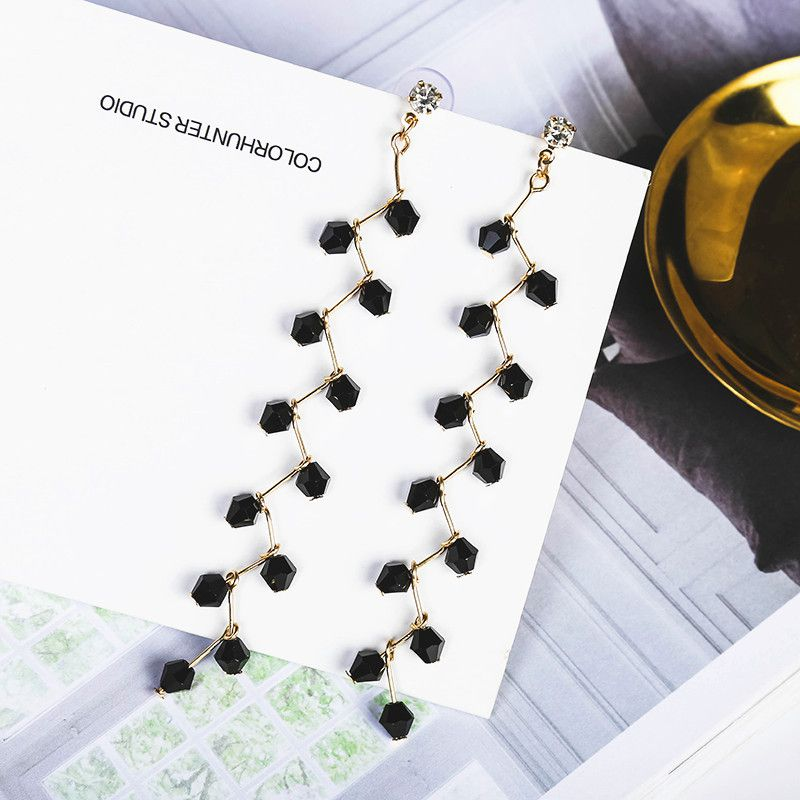 Levaso Fashion Jewelry Womens Earrings Ear Studs Necklace Pendant Alloy 1Set Personality Gifts Black