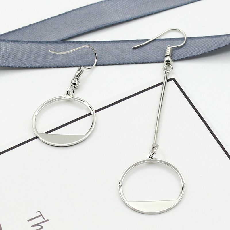 Levaso Fashion Jewelry Womens Earrings Ear Studs Alloy Geometric 1Pair Personality Gifts Silver