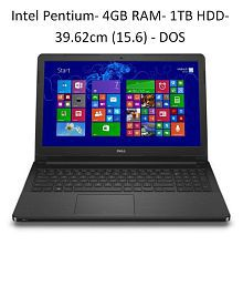 Dell Vostro 3568 Notebook (Intel Pentium- 4GB RAM- 1TB HDD- 39.62cm(15.6)- DOS) (Black)