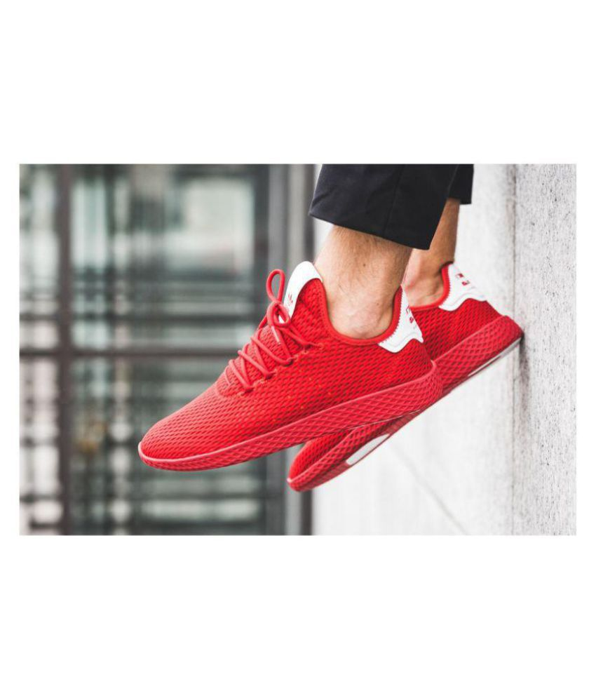 7dafd39f4d9 Adidas Pharrell Williams Sneakers Red Training Shoes Adidas Pharrell  Williams Sneakers Red Training Shoes ...