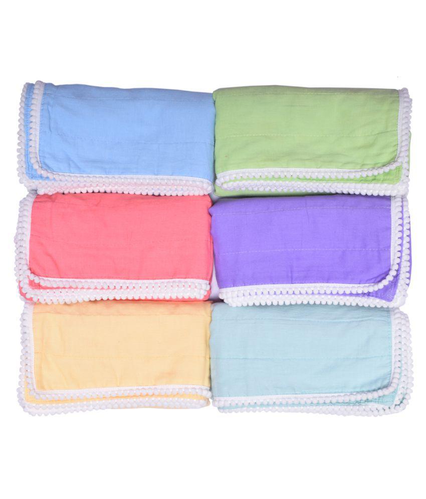 MK HANDICRAFT Green Cotton Baby Wrap cum blanket ( 75 cm × 65 cm - 6 or more pcs)