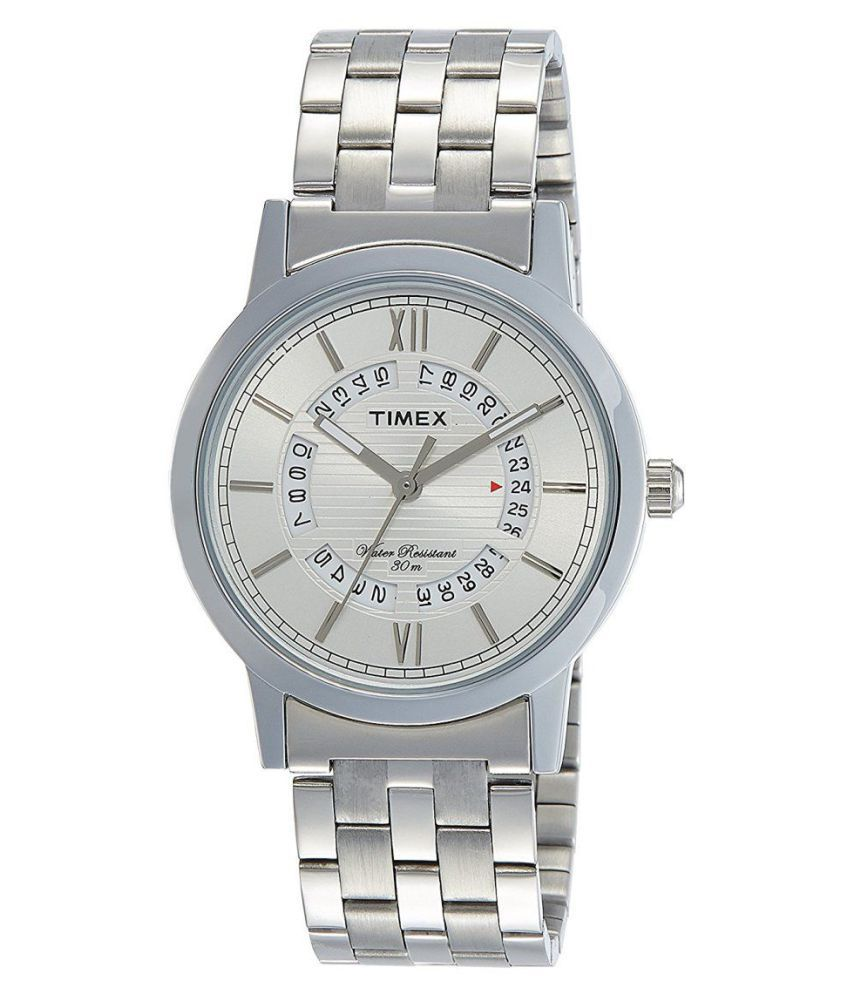 d9327146b0e Timex TW000T123 Stainless Steel Analog Men's Watch