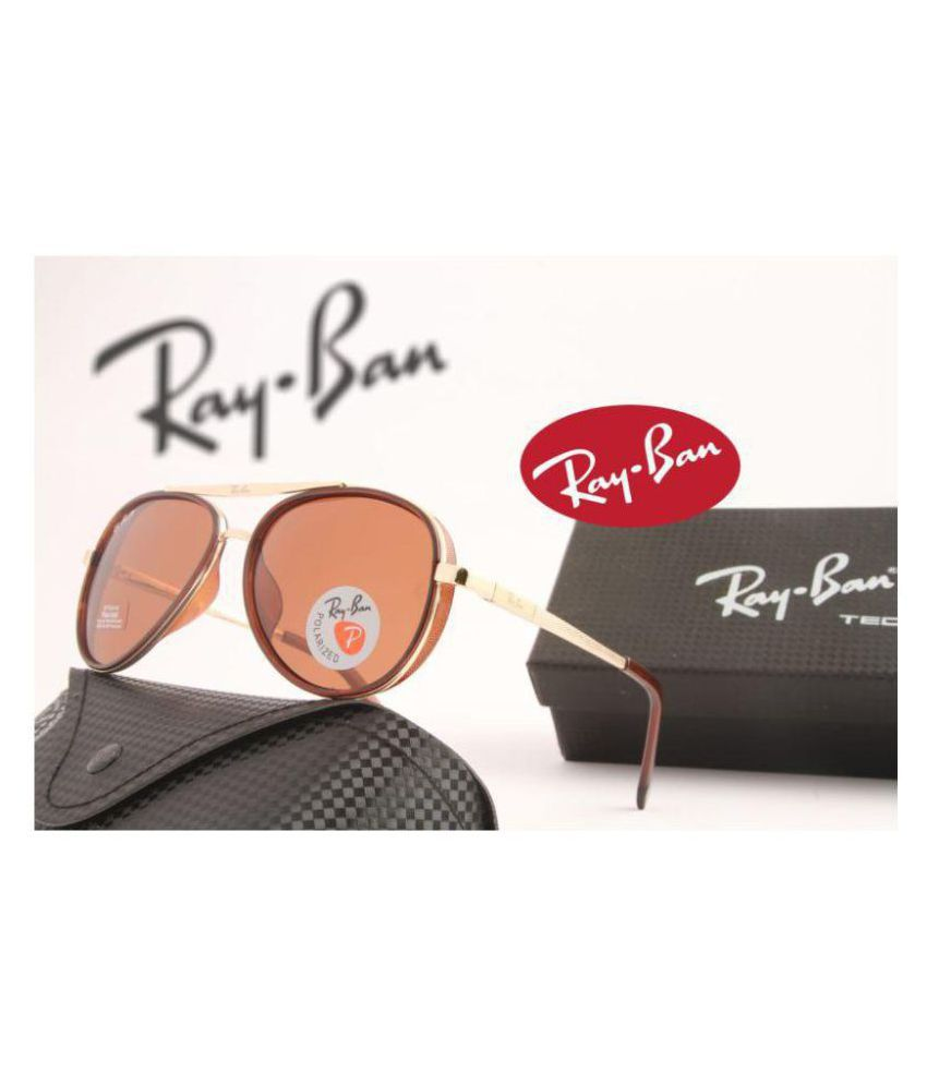 3591dd9be49b Ray Ban Sunglasses Brown Aviator Sunglasses ( 1057 ) - Buy Ray Ban ...